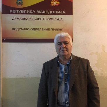 Претседателот Василески го даде својот потпис за поддршка на кандидатурата на Гордана Силјановска – Давкова